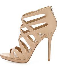 Sam Edelman Erin Leather High-heel Platform Bootie - Lyst