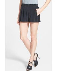 Elie Tahari 'Gemma' Pleat Front Silk Shorts - Lyst