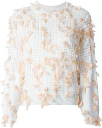 Chloé Feather Detail Sweater - Lyst