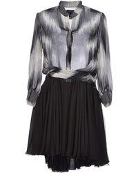 Jay Ahr Short Dress black - Lyst
