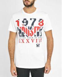 DIESEL   White T Diego Ap Round-neck T-shirt   Lyst