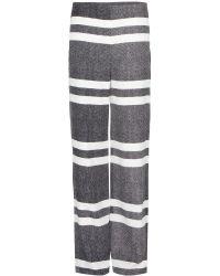 Edun Silk Wideleg Trousers - Lyst