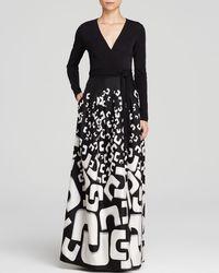 Diane von Furstenberg Maxi Wrap Dress - Kailey Silk Jersey - Lyst