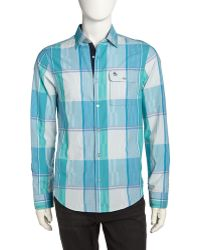 Original Penguin Mixed Plaid Poplin Sport Shirt - Lyst