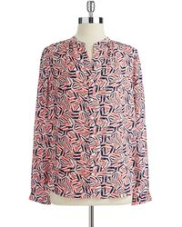 Not Your Daughter's Jeans Geo Print Blouse - Lyst