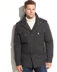 Michael Kors Big and Tall Woolblend Multipocket Field Coat - Lyst