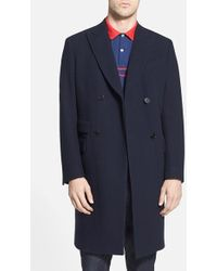 Gant Rugger 'The Doubler' Double Breasted Long Coat - Lyst