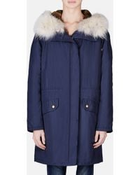 Yves Salomon Army | Parka With Rabbit Lining And Coyote Hood | Lyst