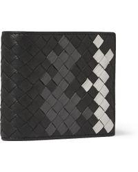 Bottega Veneta Intrecciato Washed-leather Billfold Wallet - Lyst