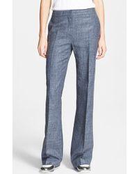 Max Mara Women'S 'Laghi' Silk & Linen Blend Pants - Lyst
