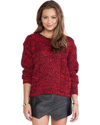 Mink Pink Festival Flames Knit Pullover - Lyst