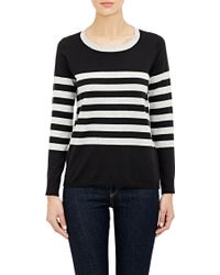 Barneys New York Stripe Sweater - Lyst