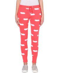 Zoe Karssen Batprint Jersey Jogging Bottoms Hibiscus - Lyst