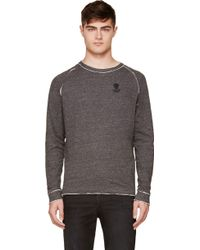 Diesel Dark Grey Slub Slumis Sweatshirt - Lyst