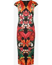 Ted Baker Tropical Toucan Cap Sleeve Dress - Lyst