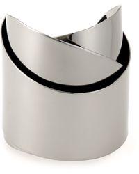 Alexis Bittar - Ruthenium-tone Ribbon Cuff Bracelet - Lyst