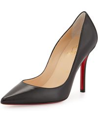 Christian Louboutin Apostrophy Pointed Red-Sole Pump - Lyst