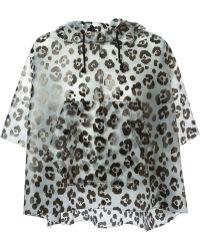 Moschino Cheap & Chic Leopard Print Jacket - Lyst