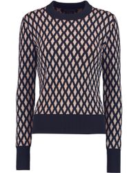 Jonathan Saunders - Jodie Merino Wool And Cotton-blend Jumper - Lyst