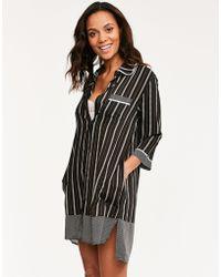 DKNY - Mixed Company 3/4 Sleeve Sleepshirt - Lyst