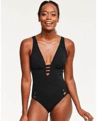Figleaves - Icon Saint Kitts Cut Out Swimsuit - Lyst