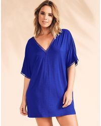 Figleaves - Bali Slub Cover Up - Lyst