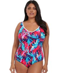Elomi - Paradise Palm Moulded Swimsuit - Lyst