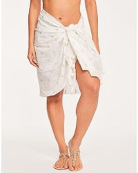 Seafolly - Spice Temple Metallic Jacquard Sarong - Lyst