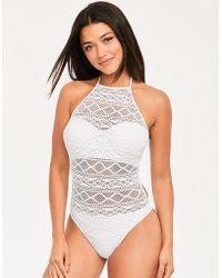 Freya - Sundance Underwired High Neck Cutout Swimsuit - Lyst