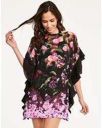 Ted Baker - Peach Blossom Square Cover Up - Lyst