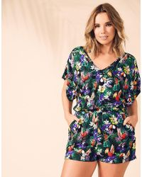 Figleaves - Toucan Tropic Jersey Playsuit - Lyst