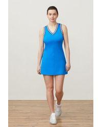58fbfb0eb38f5 Fila Double Layer Mesh Mini Dress in Blue - Lyst