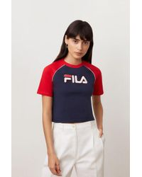 fe43f68517cd7 Women's Fila T-shirts On Sale - Lyst