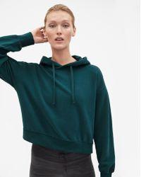 Filippa K - Brushed Hoodie Emerald - Lyst