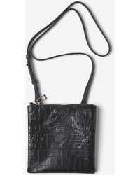 Filippa K - Marly Utility Leather Bag Black Croco - Lyst