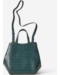 Filippa K - Shelby Mini Bucket Leather Bag Emerald Croco - Lyst
