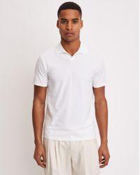 Filippa K - Soft Lycra Polo T-shirt White - Lyst