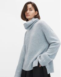 Filippa K - Chunky Roller Neck Sweater Aqua Melange - Lyst