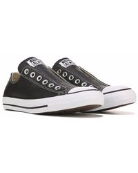 Converse - Chuck Taylor All Star Shoreline Slip On Sneakers, Black Leather - Lyst