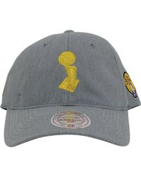 new style 85e3b 61cf8 ... order mitchell ness golden state warriors champion trophy dad hat  heather grey lyst 3e135 58c5c ...