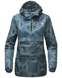 The North Face - Women Fanorak Rain/wind Resistance Jacket, Blue Bandana - Lyst