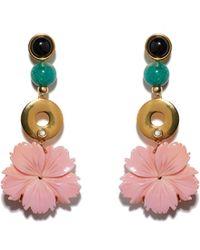 Lizzie Fortunato - Sardinia Flower Earrings - Lyst
