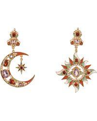 Percossi Papi - Sun & Moon Earrings In Orange - Lyst