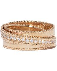 Sophie Ratner - 14k Yellow Gold Diamond Spiral Ring - Lyst