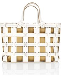 Trademark - Frances Cage Leather & Canvas Tote - Lyst