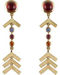 Marlo Laz Short Arrow 14K Gold Earrings E8qBfs5R