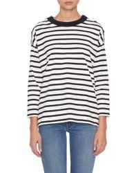 Loro Piana - Milos Striped Crewneck Sweater - Lyst