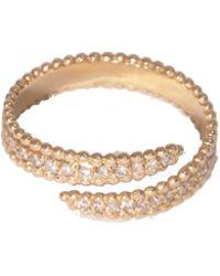 Sophie Ratner - 14k Yellow Gold Mandala Hook Ring - Lyst