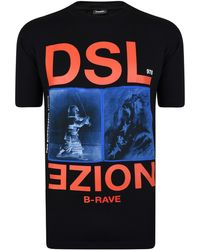 DIESEL - Noize Printed Cotton Jersey T-shirt - Lyst
