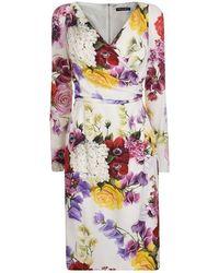 4703f163 Dolce & Gabbana Mice Sewing Short-sleeve Dress - Lyst